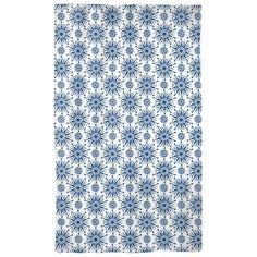 Classic Blue Curtains Henna Star Snowflake
