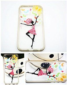 iPhone 6 Case, Ballet Girl TPU iPhone 6 soft case(5.5'')-Apple iPhone 6 Case Anti-Scratch Clear Back for iPhone 6 Plus
