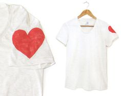 Heart on My Sleeve Tee  Girly Fit Crew Short by twostringjane