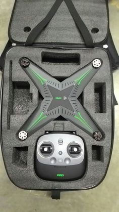 Remote controlled Hover craft drone in carry case