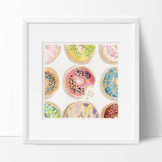 Original Donuts Watercolor Painting