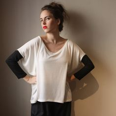 Oversize White Shirt Women Shirt by BLUSHFASHION on Etsy, $59.00