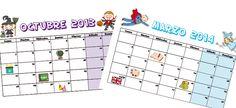 Calendario escolar 2013-2014 para imprimir - Escuela infantil y colegio - Educación - Guia del Niño