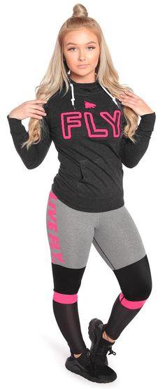 Ultra Styled High Waist Mesh Leggings: Heather Grey/Pink/Black
