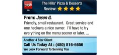 Friendly, small restaurant. Great service and one heckuva a nice owner. I'll have to...