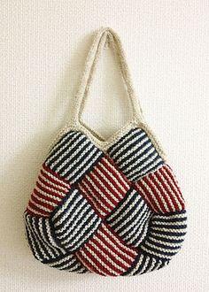 Ravelry: Garter Stripe Square Bag pattern by Ishi-knit-free pattern