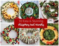 Edible Christmas Wreath Ideas #decorations #littlepartylove #wreath #partyideas #christmas