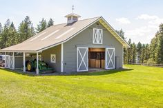 Flathead Lake horse facility, Montana - stable