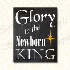 Christmas Carol Glory to the Newborn King by ToSuchAsTheseDesigns ...