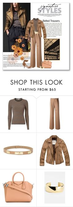 """""""Belted Trousers"""" by debpat ❤ liked on Polyvore featuring A.L.C., MaxMara, St. John, Abercrombie & Fitch and Givenchy"""