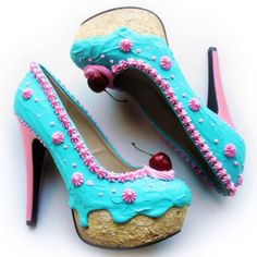 These bakery shoes are cute if your dressing up as a dessert.But to just walk down the street,i dont think so!!
