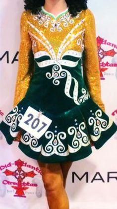 Gorgeous Green Prime Dress Designs Irish Dance Dress Solo Costume For Sale