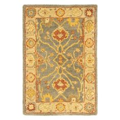 Safavieh Antiquities AT314A Area Rug - Blue/Ivory | from hayneedle.com