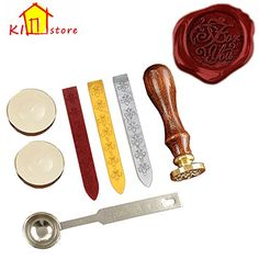 """KI Store Antique Alphabet """"FOR YOU"""" Wax Seal Stamp Kit Vintage Letter / Envolop Wax Sealing Set with Gold Red Silver Sticks KIStore http://www.amazon.com/dp/B00WP34FHO/ref=cm_sw_r_pi_dp_h3Wnwb0QQ0P4C"""