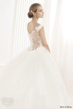 rico a mona off the shoulder wedding dress ball gown illusion back view