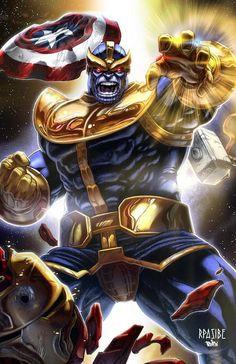 Thanos y guantelete infinito - Marvel - impresión Digital de 11 x 17