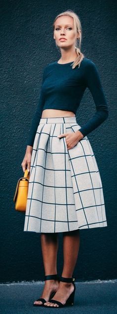 Midi and crop top