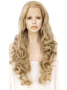 Synthetic None-lacewigs Imported From Abroad Sylvia Side Part Blonde Color Body Wave Hair Wigs Synthetic Wigs For Women Party Hair Natural Hairline Heat Resistant Fiber Hair