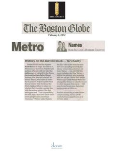 2-9-12 Article in the Boston Globe's Names Section