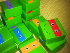 caixas para tema Tartaruga Ninja