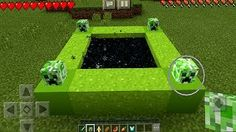 Entering the Creeper Portal in Minecraft Pocket Edition (NO ADDONS) <<< This looks cool. I hope it's an actual thing