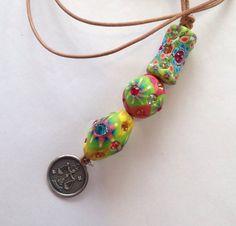 Billie+Beads+Libra+Birthday+Necklace..Vintage+by+BillieBeads,+$68.00