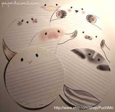 Get a free download of the sheep letter paper from PuchiMo