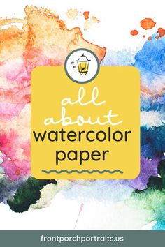 There are lots of different types of watercolor paper available on the market. It's important to find the one that works for your painting style. #watercolorpainting #watercolorpaper #practicewatercolor Watercolor Beginner, Watercolor Lettering, Watercolor Tips, Watercolour Tutorials, Watercolor Techniques, Watercolor Paper, Watercolor Paintings, Letter Practice Sheets, Metal Art Projects