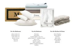 The Everygirl's Wedding Registry Guide // Linens