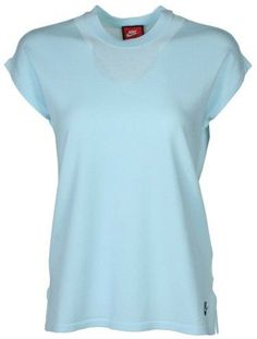 Nike Women's Tech Knit Sport Casual Tank Top-Light Blue-Medium