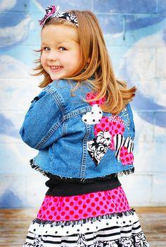 Items similar to QUEEN of Hearts Valentines Embellished denim jacket Size - 8 ODOD on Etsy Diy Decorate Jeans, Toddler Fashion, Kids Fashion, Denim Ideas, Embellished Jeans, Denim And Lace, Fashion Fabric, Denim Jackets, Kids Denim Jacket