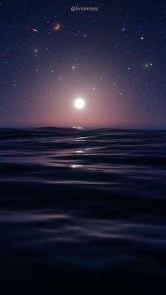 LIVE WALLPAPER | SKY | SEA | MOON | NIGHT | STARS