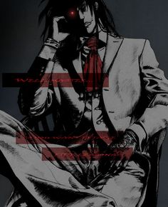 He was alone in Integras office, then he saw something on the table. It was medical blood with blood of his Master! Alucard was sooo excited! He take it and was going to drink it when saddenly Inte...