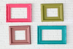 Homemade Picture Frames | Stretcher.com - How to display photos in homemade frames