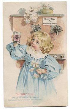 drinking, glass, flowers, cherry ripe - high resolution image from old book. Vintage Pictures, Vintage Images, World Famous Artists, Victorian Art, Victorian Christmas, Postcard Art, Art Clipart, Children Images, Vintage Cards