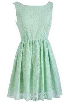 Sweet Mint Lace Dress