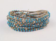 Boho Chic Crochet multi wrap bracelet necklace by knitjewels, $29.00
