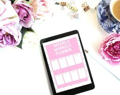 Weekly Workout planner printable as pdf us letter size or to use as a template for your tablet/ipad Workoutplanner, Gymplanner, health planner, meal planner Health Planner, Fitness Planner, Workout Planner, Travel Planner, Life Planner, Happy Planner, Printable Planner, Printables, Planner Inserts