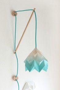 Muurlamp klimoppe : Studio Snowpuppe papieren origami lampen, sinds 2010