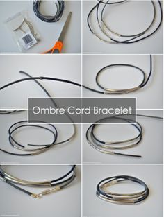 The Things She Makes: Ombre Cord Curved Bar Bracelet