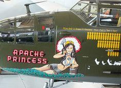 Apache Princess aircraft nose art