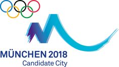 "The logo for Munich's 2018 Olympic application was presented at an event on October 16, 2009. The logo can symbolize many things, for example the mountains that surround Munich and can be seen around the city, the tented roofs on the Munich Olympiapark, the ""Schwung"" of the application, as well as a hand-written M."