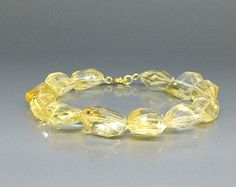 Natural Citrine bracelet with 14K gold plated clasp - gift idea for holiday season by gemorydesign. Explore more products on http://gemorydesign.etsy.com