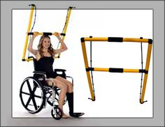 The Kefty Home Gym for exercising from a wheelchair.