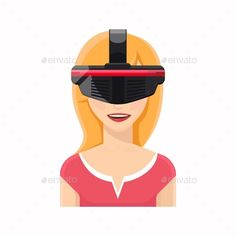 Woman Avatar In Virtual Reality Glasses