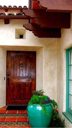 A fabulous door making a statement to your entrance