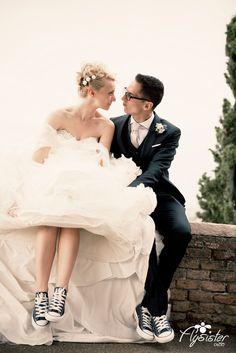 Wedding day - Fly Sister Photo #matrimonio #snikers #couples #love #wedding