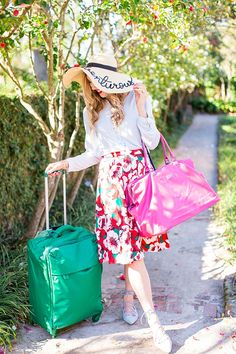 blush and camo, lipault paris, draper james, draper james skirt, floppy hat, spring style, wanderlust