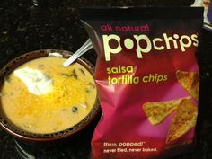 @popchips tortilla chips with Trisha Yearwood's Chicken Tortilla Soup!
