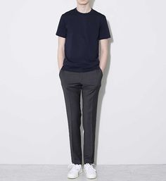 48 Elegant Man Street Style Ideas To Inspire You Korean Fashion Men, Korea Fashion, Korean Men, Look Fashion, Trendy Fashion, Mens Fashion, T Shirt Png, Casual Outfits, Men Casual